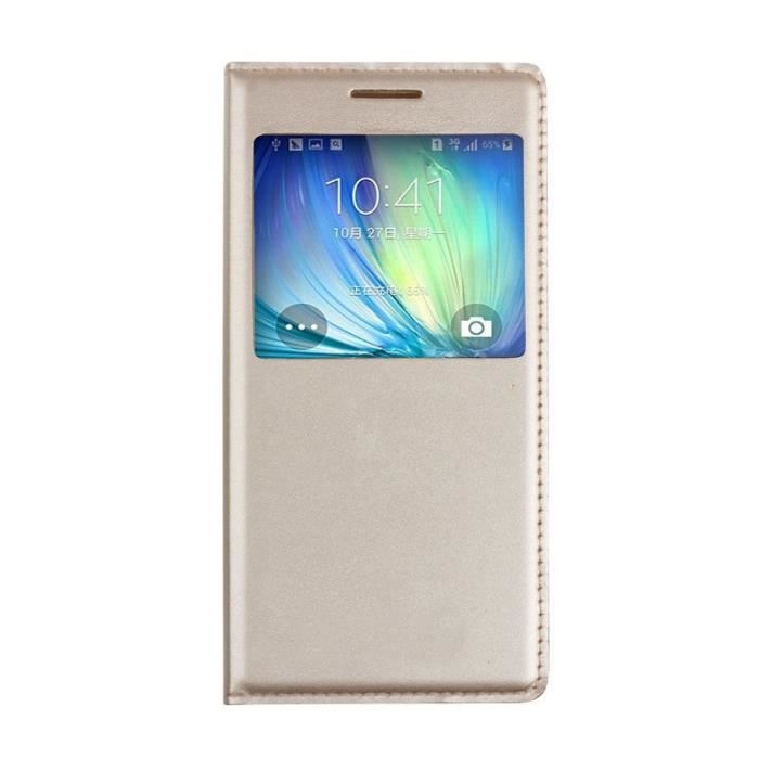 etui coque or gold samsung galaxy j7 2016 flip cover. Black Bedroom Furniture Sets. Home Design Ideas