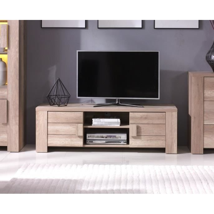 meuble tv design couleur ch ne ferrara id al pour poser votre t l vision et meubler votre salon. Black Bedroom Furniture Sets. Home Design Ideas
