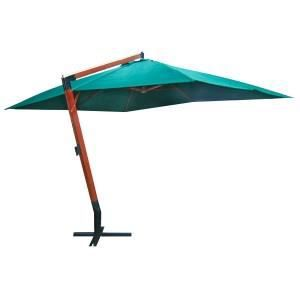 parasol d port vert xxl en bois 3x4m avec pied achat vente parasol parasol d port vert xxl. Black Bedroom Furniture Sets. Home Design Ideas