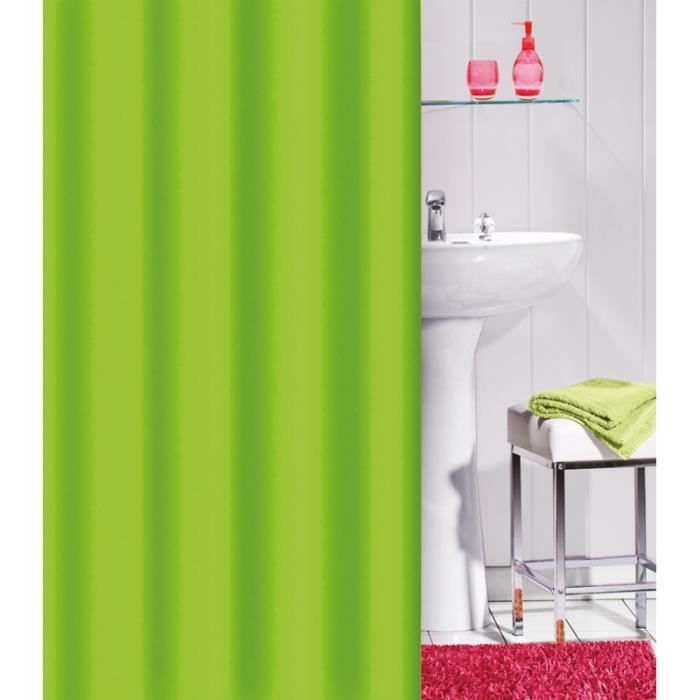 rideau de douche flashy uni couleur vert anis achat vente rideau de douche cdiscount. Black Bedroom Furniture Sets. Home Design Ideas