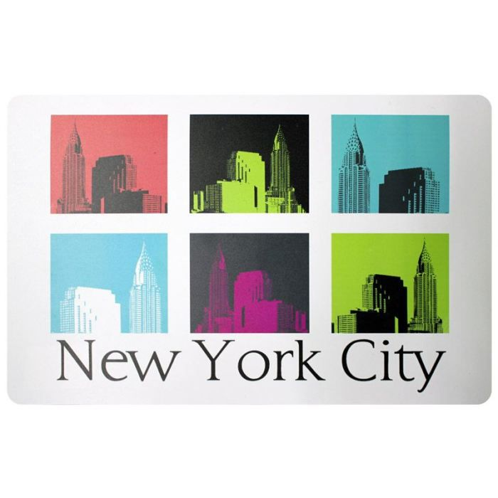 6 sets de table plastifi s new york urban city achat for Sets de table rigides