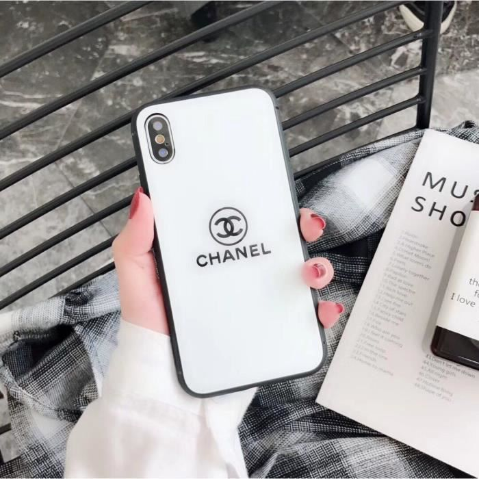 2PCS Chanel Coque iPhone X/XS Verre Coque - Blanc Noir - Cdiscount ...