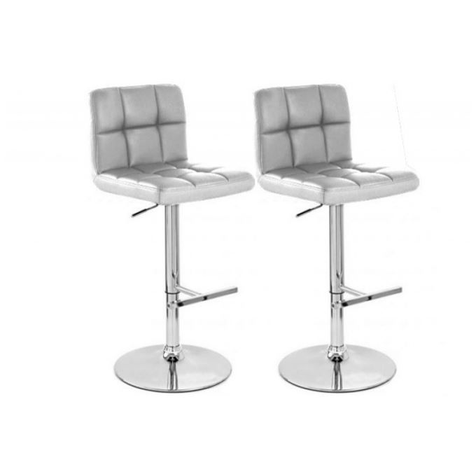 tabouret de bar capitonn design argent set d achat. Black Bedroom Furniture Sets. Home Design Ideas