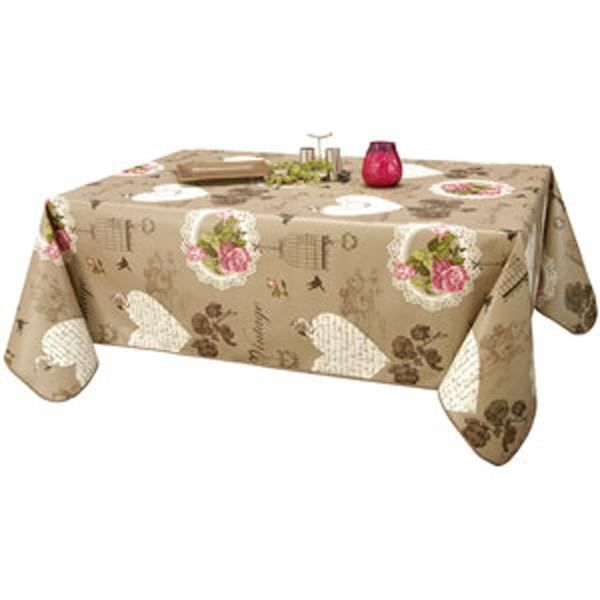 toile ciree nappe vintage conditionnement au metre achat vente nappe de table cdiscount. Black Bedroom Furniture Sets. Home Design Ideas
