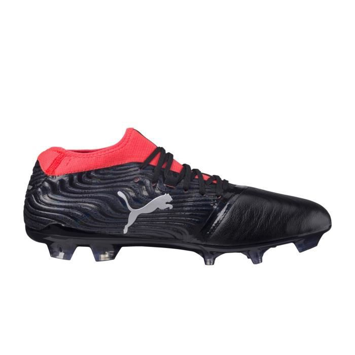 competitive price 4400e 551a3 Chaussures football Puma One 18.2 FG Noir-Rouge