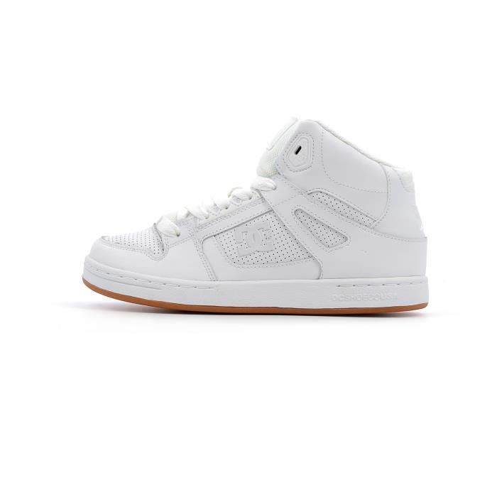 Baskets montantes DC Shoes Pure High-Top Junior Blanc Blanc - Achat ... e326e7be7465