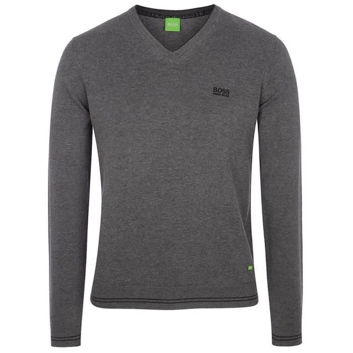 PULL HUGO BOSS GRIS 2018 Gris GRIS - Achat   Vente sous-pull ... da023b0abed2
