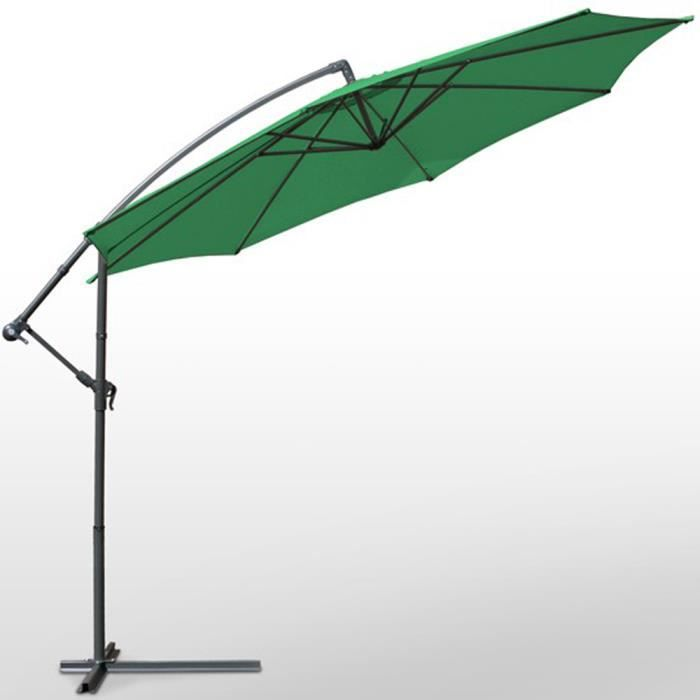 grand parasol d centr couleur vert pour jardin achat. Black Bedroom Furniture Sets. Home Design Ideas