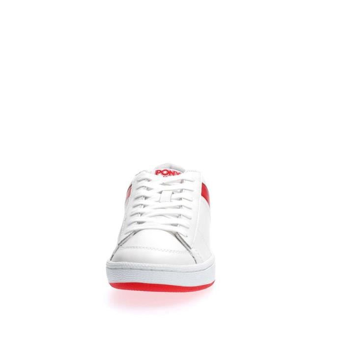 PONY SNEAKERS Homme WHITE RED, 43