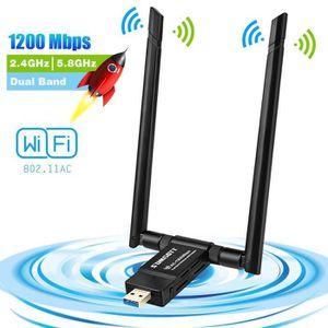 CLE WIFI - 3G sumgott Adaptateur USB WiFi, Clé WiFi Dongle 1200M
