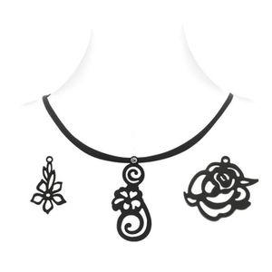 PENDENTIF VENDU SEUL Coffret Floral Collier Femme - 3 Pendentifs en Sil