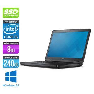 ORDINATEUR PORTABLE Pc portable Dell E5540 - i5-4300U - 8 Go -240Go SS