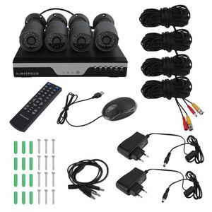 CAMÉRA DE SURVEILLANCE OUTAD Kit HD Caméra de Surveillance sans fil 4CH N