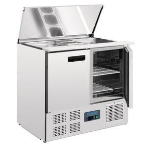 BUFFET RÉFRIGÉRÉ  Saladette réfrigérée comptoir inox 240 Litres Pola