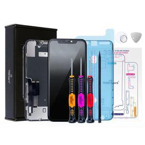 ECRAN DE TÉLÉPHONE Trop Saint® Écran pour iPhone XR Noir Vitre Tactil