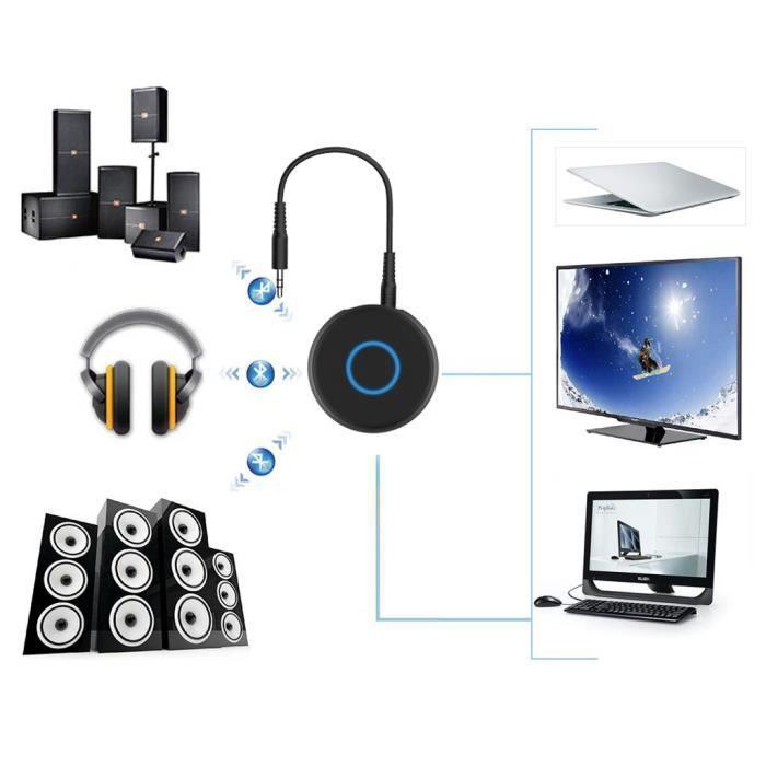 Emetteur Bluetooth V5.0 Edr jack 3,5 mm stéréo Musique Audio Adaptateur Transmiter_Y5195
