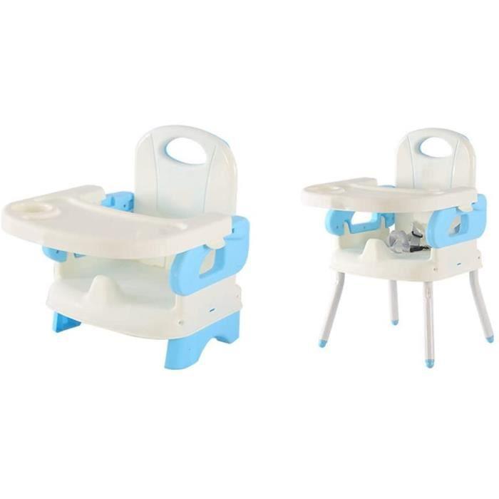 Baby Dining Chair Chaise De Salle à Manger pour Enfants Table De Bébé Multifonctionnelle Chaise S?r Et Stable Pliable -bleu