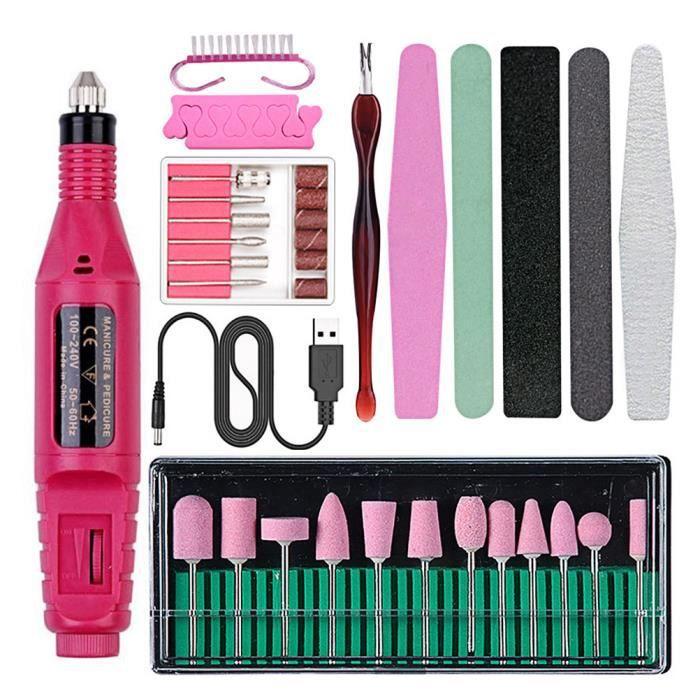 2psc outils de polissage des ongles - nettoyage brosse ensemble bricolage Nail Art fournitures - POLISSOIR