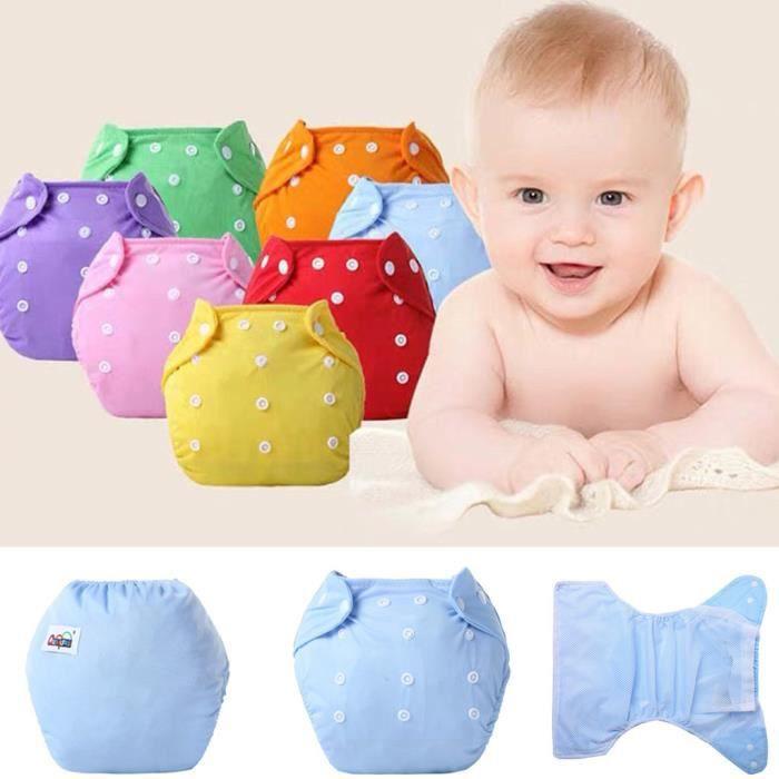 Soins bébéBébé 7pc - ensemble nouveau-né couches réutilisables couches lavables couche lavable ZBY90321551_sim