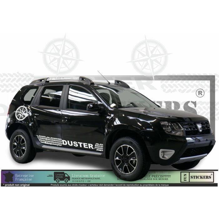 dacia duster - BLANC - kit complet Boussoles + traces de pneus - Tuning Sticker Autocollant Graphic Decals