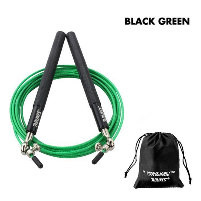 Corde à sauter professionnelle, Crossfit, corde à sauter pour MMA, boxe, Fitness, entraînement-vert