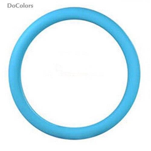 DoColors – housse de volant de voiture en Silicone, pour SEAT Ibiza Leon Toledo Arosa Alhambra Exeo FR light blue