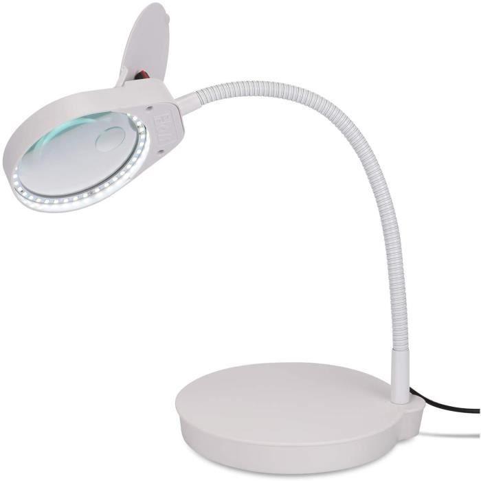 ENJOHOS Lampe Loupe sur Pied 2 en 1 3x 10x Loupe de lecture avec Support LED 38pcs loupe eclairante pour Lumière du Jour Lumin140