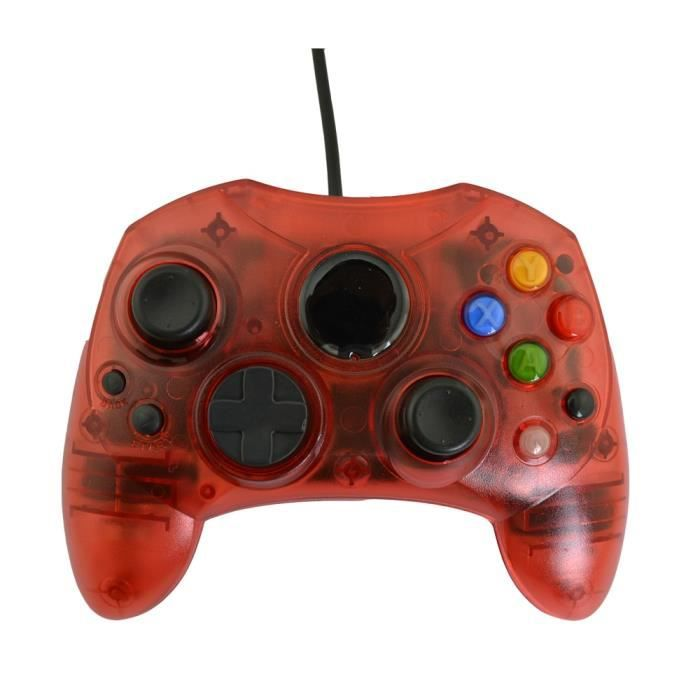 Manette de jeu filaire manette de jeu Type S pour m icrosoft x box Console jeux accessoires vidéo - Type Transparent red