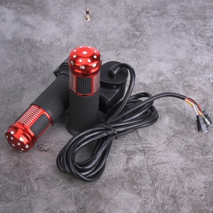 Tbest Affichage de l'accélérateur au pouce pour vélo électrique 1 paire d'accélérateur universel de torsion d'affichage de
