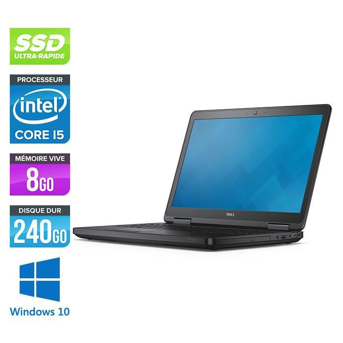 Pc portable Dell E5540 - i5-4300U - 8 Go -240Go SSD-Windows 10