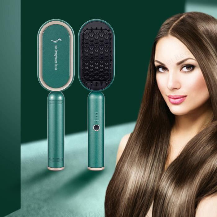 Brosse lissante chauffante peigne à lisser cheveux peigne electrique lisseur