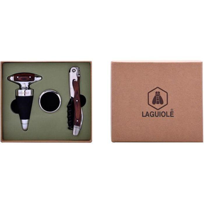 Coffret sommelier 3 fonctions, bouchon, collier anti-goutte - Accessoires vin