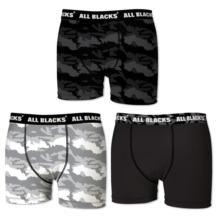Lot de 3 boxers ALL BLACKS pour homme avec motifs de camouflage