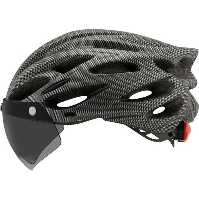 SURENHAP - Casque de Vélo avec Visière et Lampe d'avertissement - M / L (54-61cm) - Rithok -SD9G