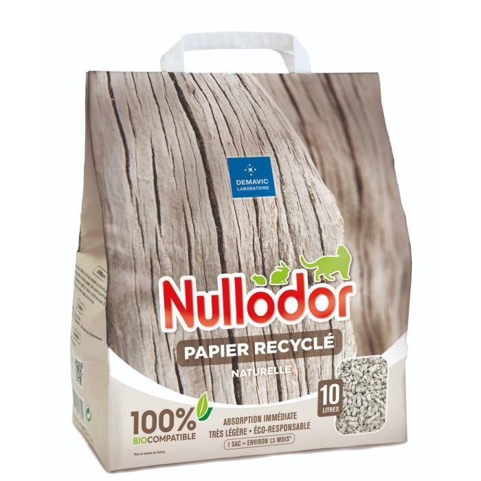 NULLODOR Litière Papier par DEMAVIC - 10 L
