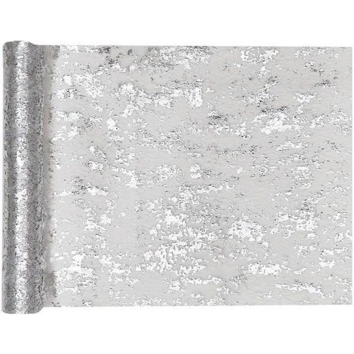 Décoration élégante argent avec chemin de table brillant (x1) R/4721