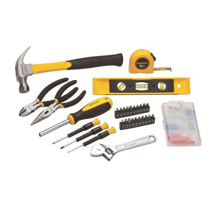 STANLEY Kit d'outils maison 62 pièces