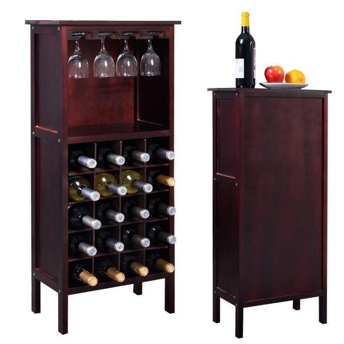 Étagère à vin Casier à vin Range bouteille porte-bouteille armoire en bois - Achat / Vente ...