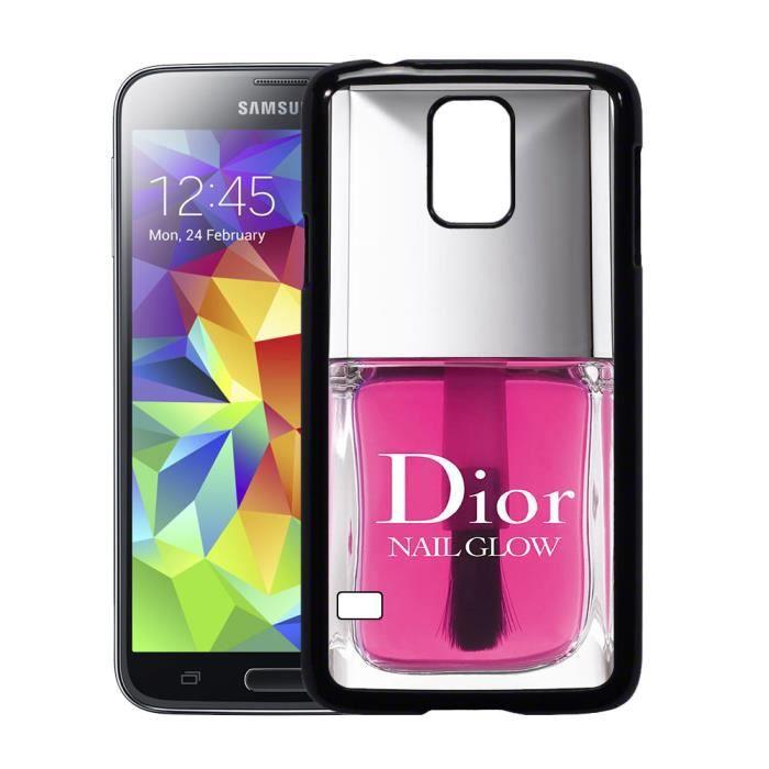 Coque Samsung galaxy S5 vernis dior rose - Cdiscount Téléphonie