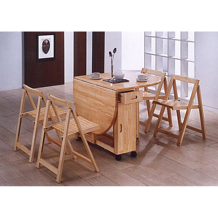 table manger pliante et 4 chaises butterfly achat vente table manger compl te table. Black Bedroom Furniture Sets. Home Design Ideas