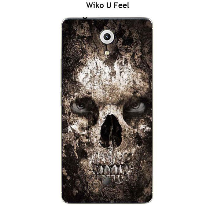 Coque Wiko U Feel design Tete de mort 2