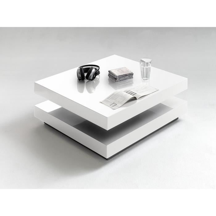 Blanc Table 75 x P 75 basse cm 75 L x cm 75 x H BROOS 30 rQxBCoedW