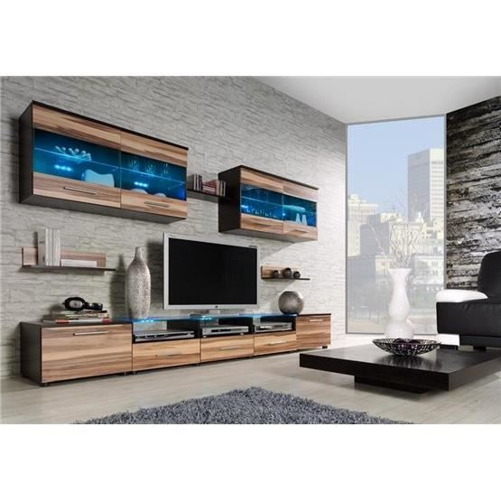 ensemble meubles tv design cimi 1 weng et bois. Black Bedroom Furniture Sets. Home Design Ideas