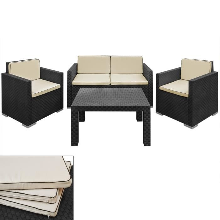 salon de jardin lounge 1 sofa 2 fauteuils 1 table achat vente salon de jardin salon jardin. Black Bedroom Furniture Sets. Home Design Ideas