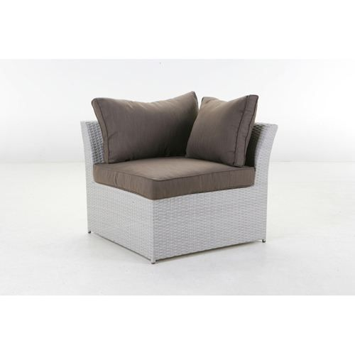fauteuil d 39 angle mahonia sur mesure argent achat. Black Bedroom Furniture Sets. Home Design Ideas