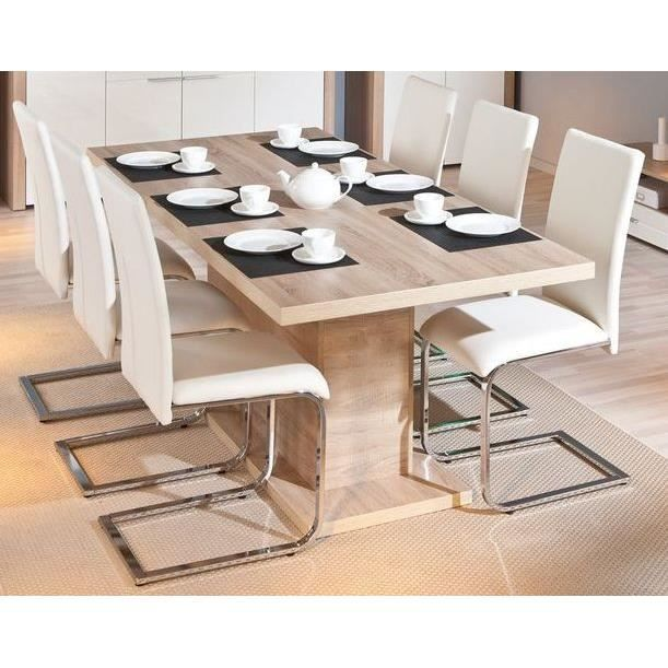 Table rectangulaire 1 allonge absoluto 10 ch ne achat for Table a manger 2 personnes