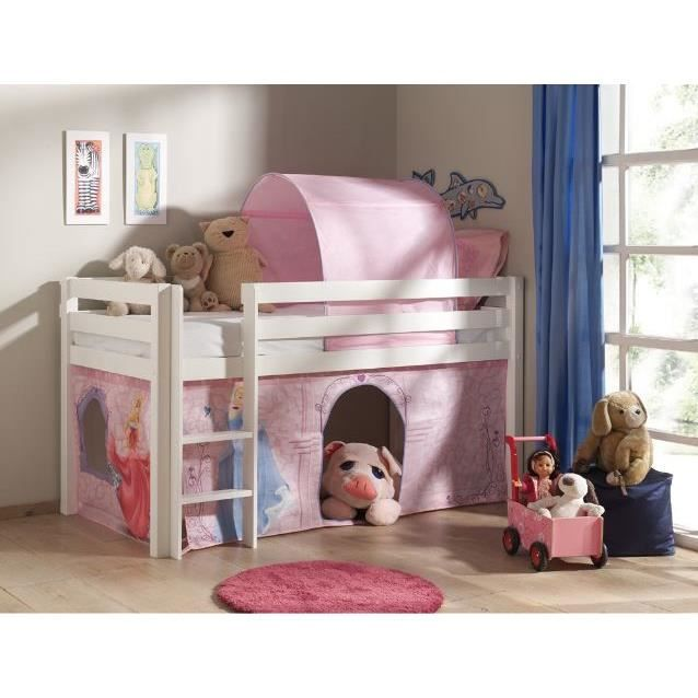 tente tunnel pour lit enfant mezzanine disney achat vente tente de lit cdiscount. Black Bedroom Furniture Sets. Home Design Ideas