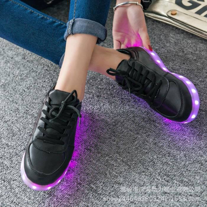 Unisexe Colorful Led Lumi re Usb Chargeur Chaus...
