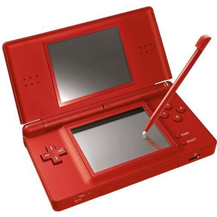 console nintendo ds lite rouge achat vente console ds lite dsi console nintendo ds lite ro. Black Bedroom Furniture Sets. Home Design Ideas