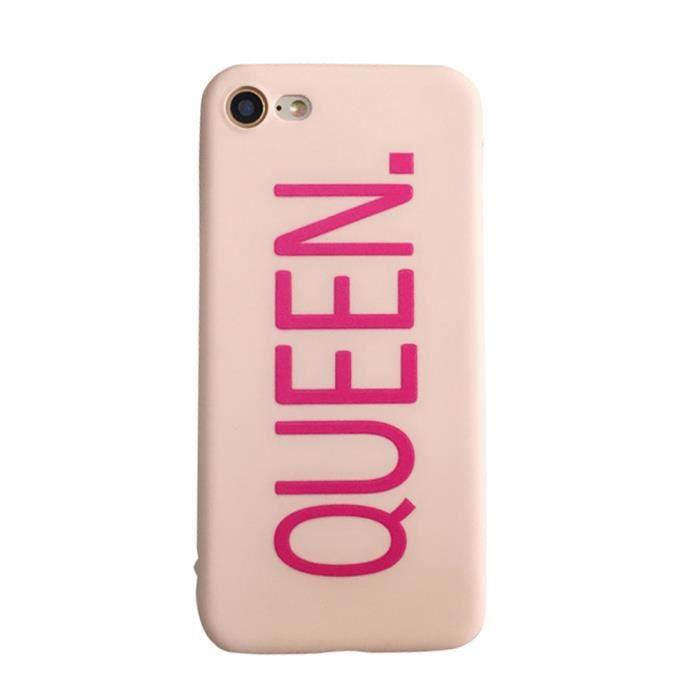 coque queen boss imprimer couple rose pour iphone